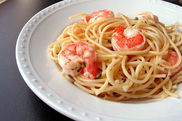 shrimp bucatini spaghetti recipe
