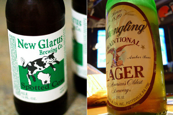 super bowl beers from wisconsin and pennsylvania