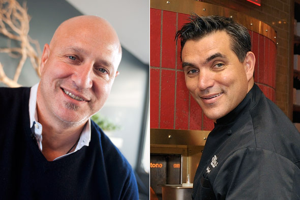 Tom Colicchio and Todd English cook for NFL