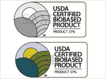 USDA sample label for new biobased packaging