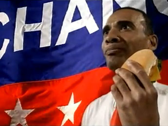 Chinese KFC ad with fake Obama