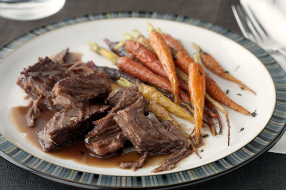 Braised Short Ribs with Honey Roasted Carrots recipe
