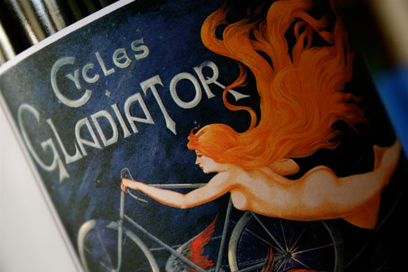 Cycles Gladiator romantic wine label