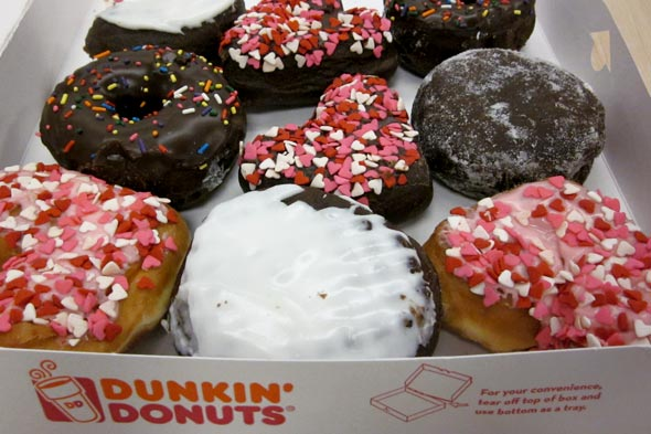 Dunkin Donuts new doughnuts for Valentine's Day