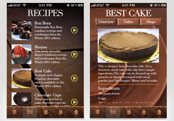 iTunes app Jacques Torres Mr. Chocolate