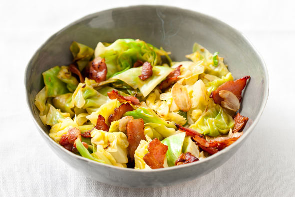 Sauteed Cabbage with Bacon recipe