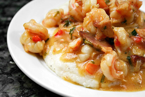 seafood dinner, shrimp and grits