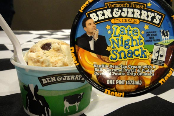 Ben &amp; Jerry's new flavor with Jimmy Fallon
