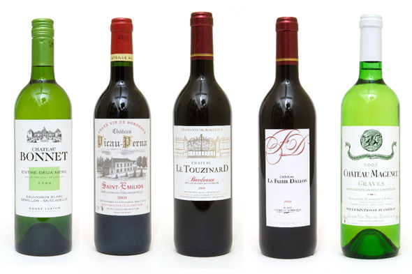 Bordeaux wines from Whole Foods