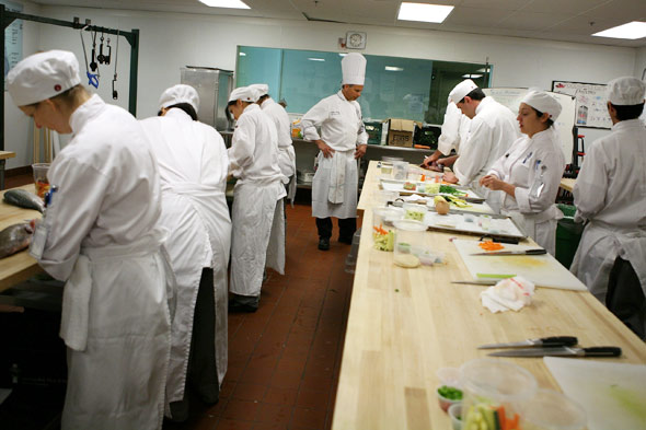Chefs in class at Le Cordon Bleu