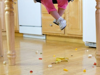 dropped food on the floor