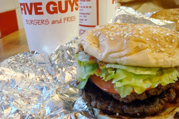 Five Guys burger