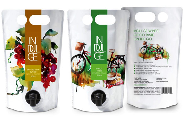 Indulge Wines, eco-friendly pouches of wine
