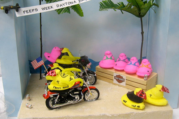 Peeps diorama at Daytona Beach