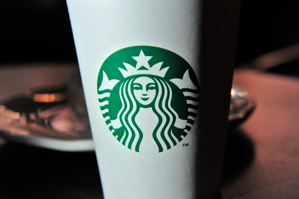 starbucks cup with new logo