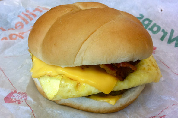 Wendy's breakfast sandwich