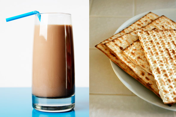 chocolate milk at seder