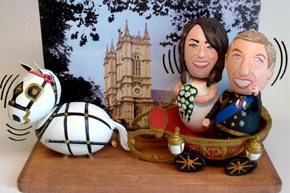 The Egg Man art sculpture of Prince William and Kate Middleton Wedding