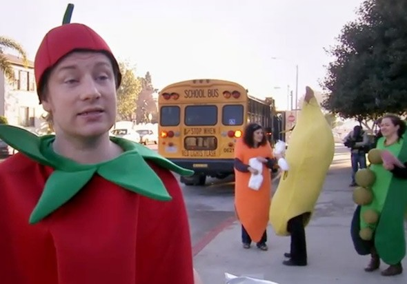 Jamie Oliver's Food Revolution, tomato costume