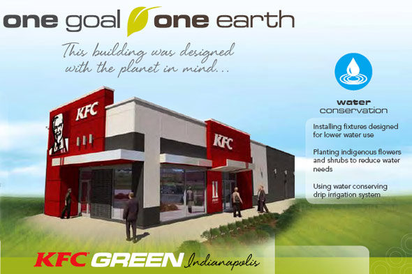 KFC green restaurant