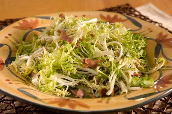 Frisee Salad with Bacon Gorgonzola recipe