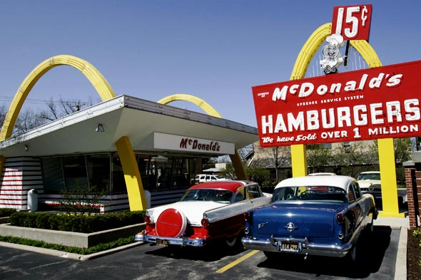 Replica of 1955 McDonald's in Des Plaines Illinois