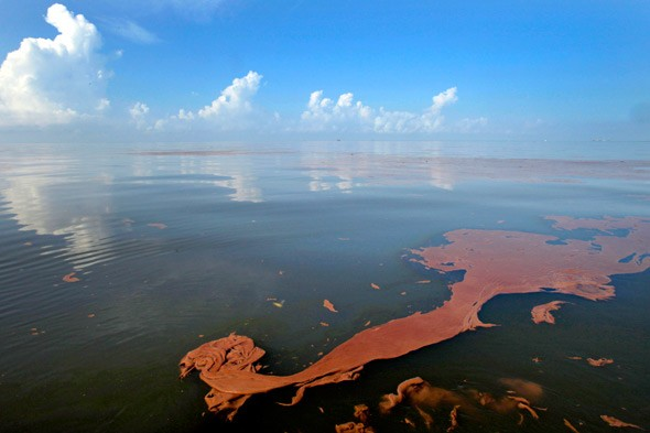 view of BP oil spill on June, 7, 2010