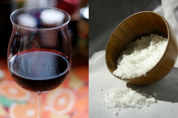 red wine and sea salt, health myths
