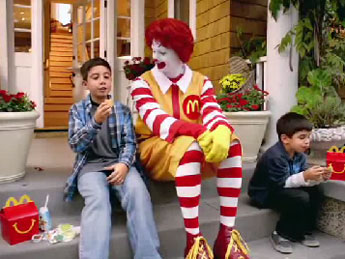 Ronald McDonald Happy Meals commercial
