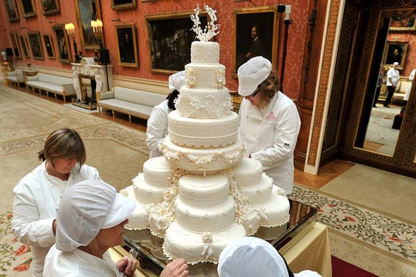 Royal Wedding Cake, Prince William and Kate Middleton