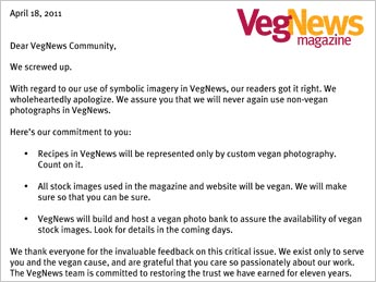 VegNews apology