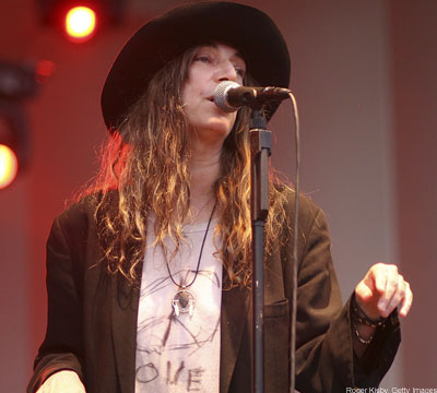 Patti Smith in a hat