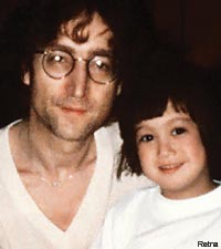 John Lennon and Sean Lennon