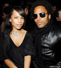 Lenny Kravtiz and Zoe Kravitz