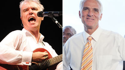 David Byrne, Governor Charlie Crist