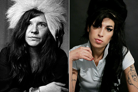 Janis Joplin and Amy Winehouse