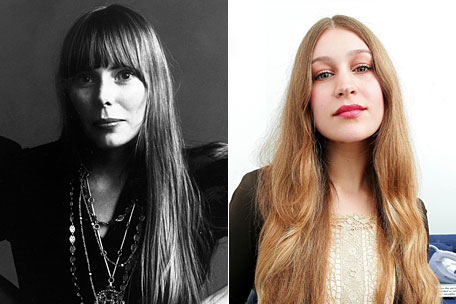 Joni Mitchell and Joanna Newsom