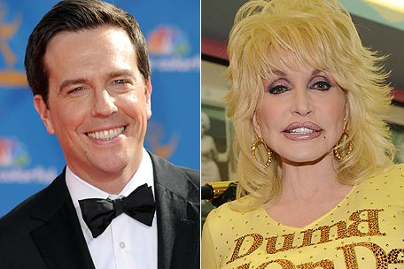 Ed Helms and Dolly Parton