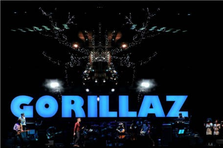 Gorillaz Perform Live at Coachella