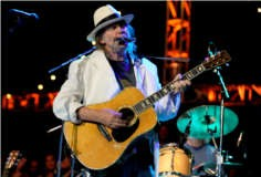 Neil Young performing at the 2009 Bridge School Benefit