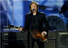 Paul McCartney performing live