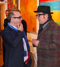 Elvis Costello and Bernie Taupin