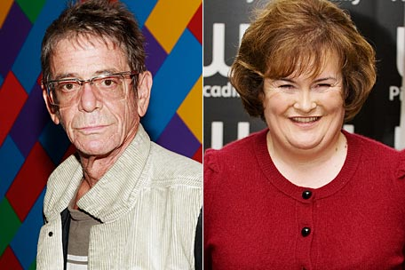 Lou Reed and Susan Boyle
