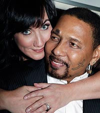 Sarah Friedman and Aaron Neville
