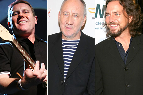 English Beat Pete Townshend Eddie Vedder