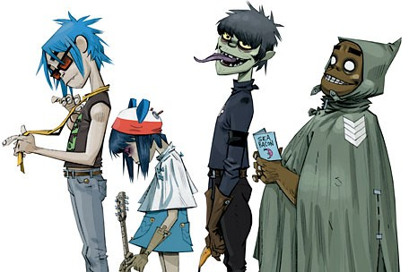 Gorillaz Web-Savvy Musicians