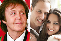 Paul McCartney Prince William Kate Middleton