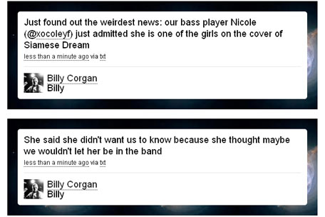 Billy Corgan tweets