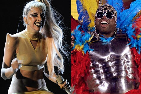 Lady Gaga, Cee Lo Green at 2011 Grammy Awards
