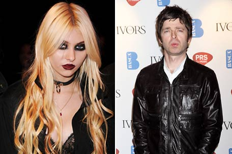 Taylor Momsen, Noel Gallagher, Oasis